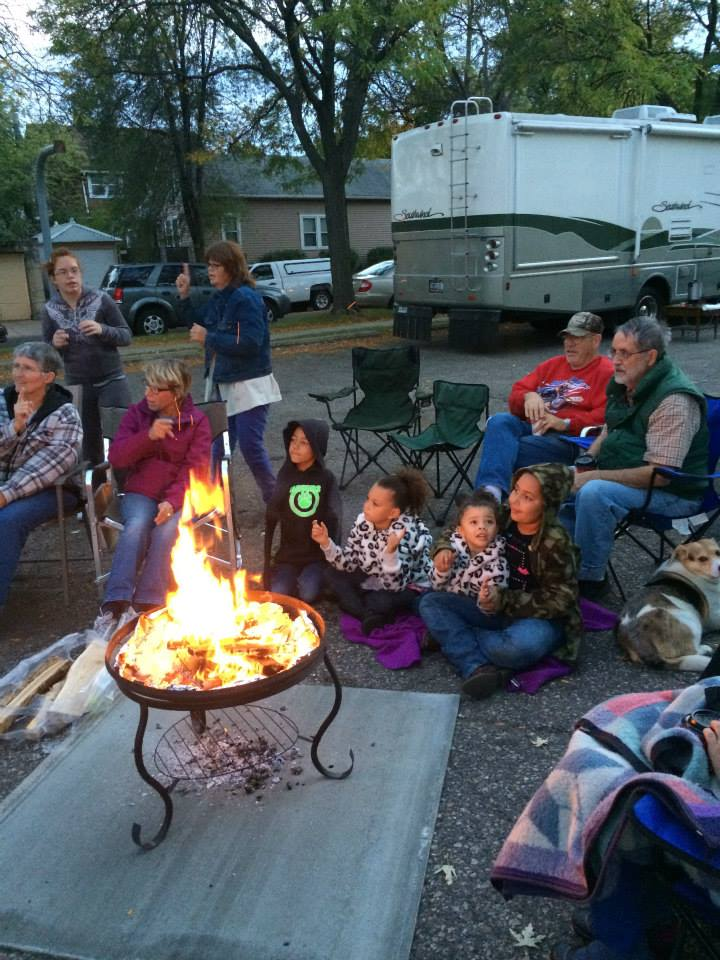 Campfire Worship with singing and s'mores